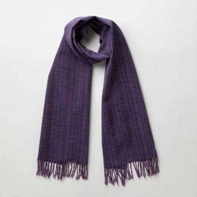 IIE Lab. Traditional stole 紫やたら縞 会津木綿 ストール 日本製 伝統工芸