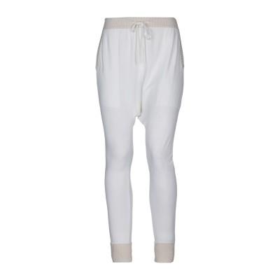 CASHMERE COMPANY パンツ ホワイト 42 レーヨン 70% / ナイロン 20% / シルク 10% パンツ