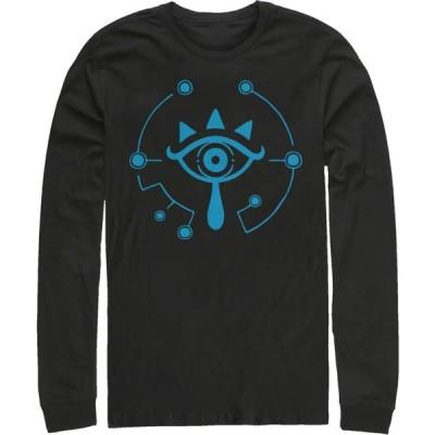 フィフス サン Fifth Sun メンズ 長袖Tシャツ トップス Nintendo Zelda Breath of the Wild Eye Long Sleeve Shirt black