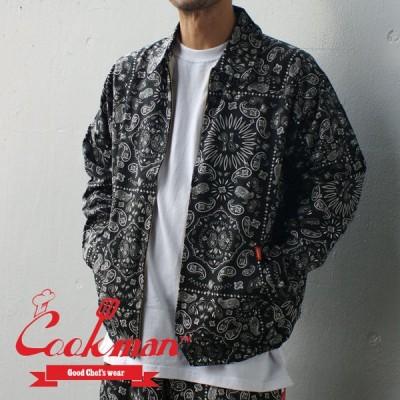 【ノベルティプレゼント中!!】 クックマン Cookman Delivery Jacket デリバリー ジャケット Paisley Black ペイズリー ブラック 黒 999006403041 OUTER