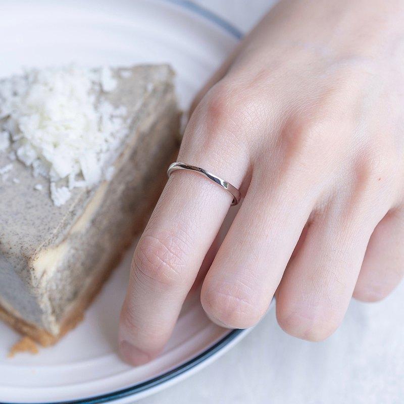 純銀莫比烏斯戒指 可調式戒指