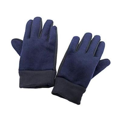 手袋 5本指 2本指先フード付き タッチパネル対応 メルトン調ファー 滑り止め生地 カフスストレッチ 伸縮性あり