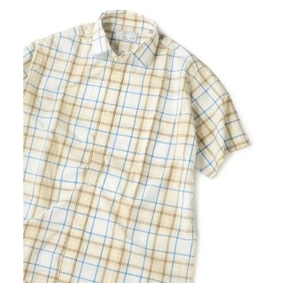 【シップス】 SU:チェック柄 ショートスリーブシャツ メンズ ベージュ MEDIUM SHIPS