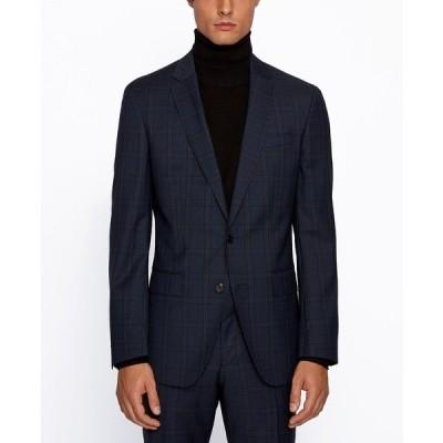 ヒューゴボス ジャケット&ブルゾン アウター メンズ BOSS Men's Huge6 Slim-Fit Jacket Navy