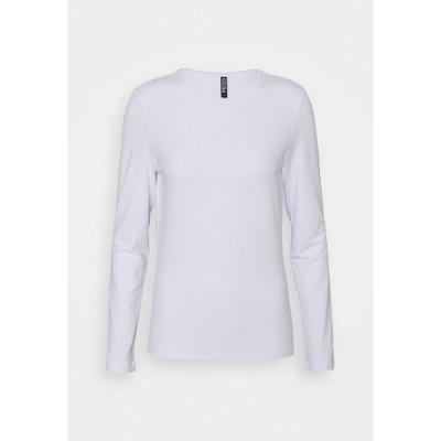 ピーシーズ カットソー レディース トップス PCSIRENE TEE - Long sleeved top - bright white