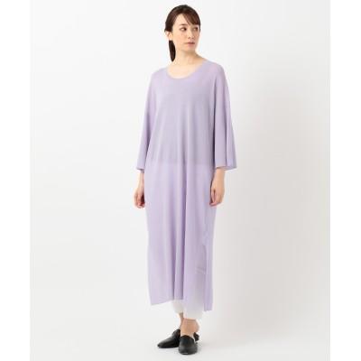 【洗える】シアーコットン / ニットドレス