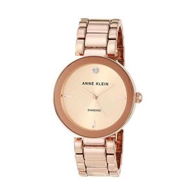 (新品) Anne Klein Women's AK/1362RGRG Rose Gold-Tone Diamond-Accented Bracelet Watch