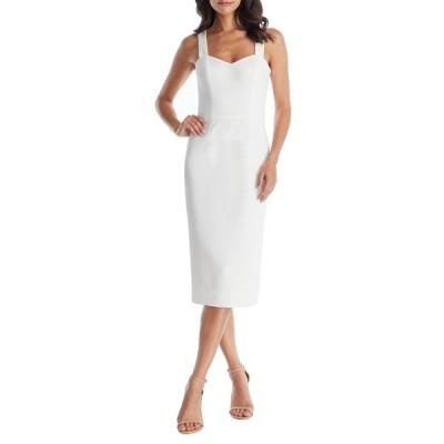 ドレスザポプレーション ワンピース トップス レディース Nicole Sweetheart Neck Cocktail Dress Off White