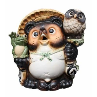 満願成就狸 8.5号 信楽焼 たぬき 陶器 狸 置物 タヌキ 彩り屋