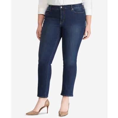 ラルフローレン デニムパンツ ボトムス レディース Plus Size Modern Straight Curvy Jeans Deep Royal Wash