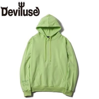 デビルユース DEVILUSE パーカー Flame Heart Pullover Hooded Sweat Blight Green プルオーバー フード スウェット ブライトグリーン