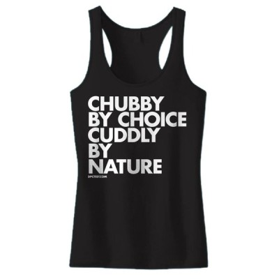 Tシャツ レディース 海外セレクション Women's DPCTED Chubby By Choice Cuddly By Nature Tank Top ブラック