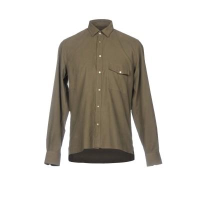 LOW BRAND シャツ ミリタリーグリーン 3 100% コットン シャツ