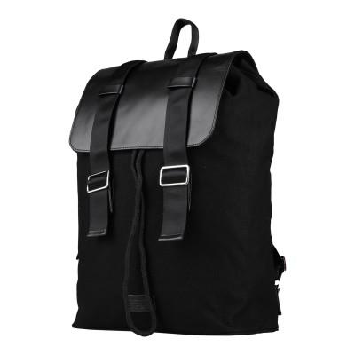 ROYAL REPUBLIQ バックパック&ヒップバッグ ブラック コットン 85% / 革 15% バックパック&ヒップバッグ