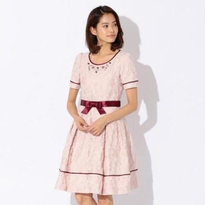 【L】フラワージャカードドレス