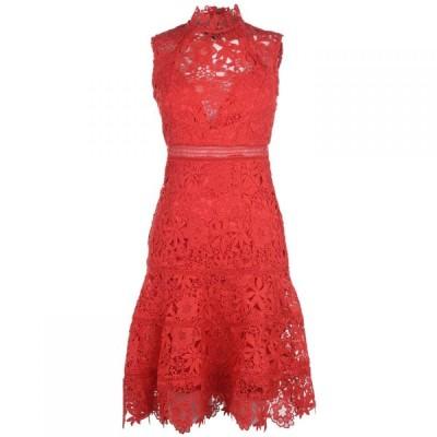バルドー Bardot レディース ワンピース ワンピース・ドレス bd elise lace dress SALSA RED
