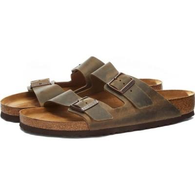 ビルケンシュトック Birkenstock メンズ サンダル シューズ・靴 arizona sfb Mud Green Oiled Leather