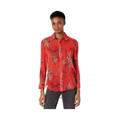AllSaints レディース 女性用 ファッション ブラウス Bernie Melisma Shirt - Red