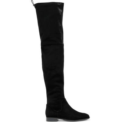 ダナ キャラン DONNA KARAN ブーツ ブラック 10 紡績繊維 ブーツ