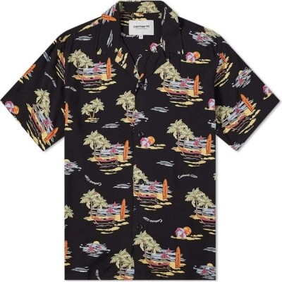 カーハート Carhartt WIP メンズ 半袖シャツ トップス Short Sleeve Beach Shirt Black