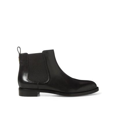 LAUREN RALPH LAUREN ショートブーツ ブラック 6 牛革 100% / 紡績繊維 ショートブーツ