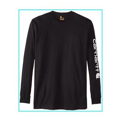 Carhartt メンズ ビッグ&トール シグネチャースリーブ ロゴ 長袖Tシャツ US サイズ: XX-Large Tall カラー: ブラ