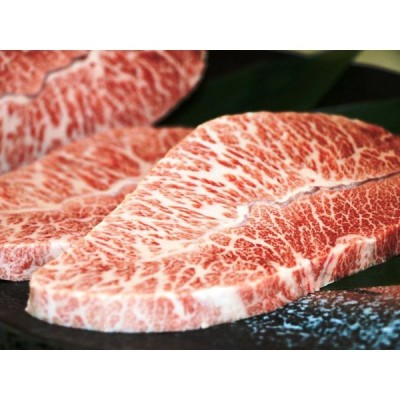 米沢牛 ステーキ ミスジ 240g (120g x 2 枚) ご自宅用 送料込み (※) 米沢牛入りハンバーグ付き