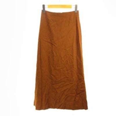 【中古】ユナイテッドアローズ UNITED ARROWS 近年モデル ロングスカート ミモレ丈 茶 ブラウン 34 S IBO3 レディース