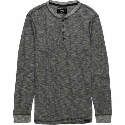 スイスアルプス Swiss Alps メンズ 長袖Tシャツ ヘンリーシャツ トップス Spacedye Long-Sleeve Henley Black Spacedye