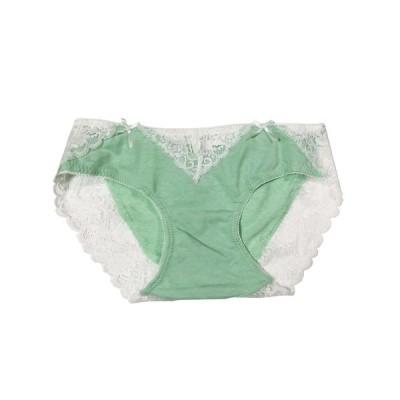 緑 翠 レース リボン 美尻 ストレッチレースヒップに優しくフィットして快適な履き心地、可愛くてセクシー パンツ