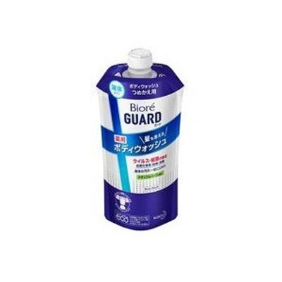 【花王】 ビオレガード 髪も洗える薬用ボディウォッシュ ナチュラルハーブの香り つめかえ用 340mL 【日用品】