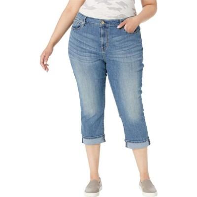 リーバイス Signature by Levi Strauss & Co. Gold Label レディース ジーンズ・デニム 大きいサイズ Plus Size Mid-Rise Capri Jeans Blue Ice