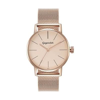 Gigandet Women's Quartz Watch Minimalism Analog Stainless Steel Bracelet Rose Gold G43-022 並行輸入品