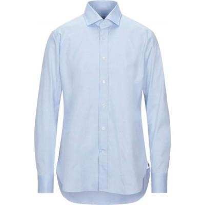 グリエルミノッティ GUGLIELMINOTTI メンズ シャツ トップス solid color shirt Sky blue