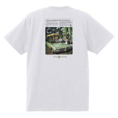 アドバタイジング ポンティアック 370 白 Tシャツ 黒地へ変更可能  1969 グランプリ gto ボンネビル アメ車