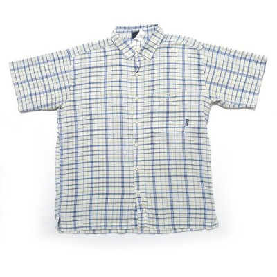 パタゴニア オーガニック コットン 半袖 チェックシャツ サイズ表記:L