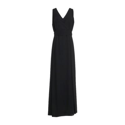 CASTING ロングワンピース&ドレス ブラック 44 ポリエステル 100% ロングワンピース&ドレス