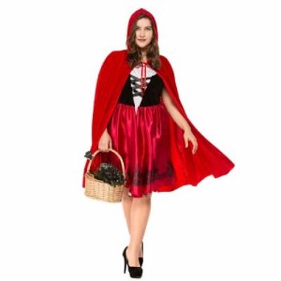 レディースコスチューム 赤ずきん  クリスマス コスチューム衣装 イベント コスプレパーティー 仮装 大きいサイズ