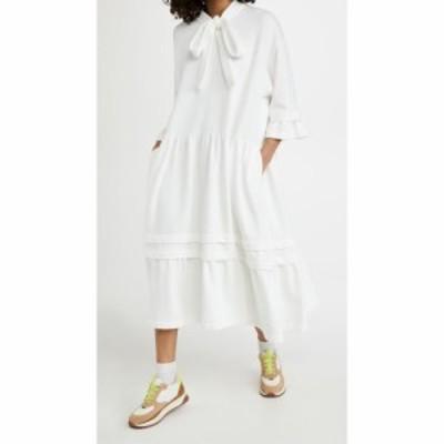 メゾン マルジェラ MM6 Maison Margiela レディース ワンピース スウェットワンピ ワンピース・ドレス Sweatshirt Dress Off White