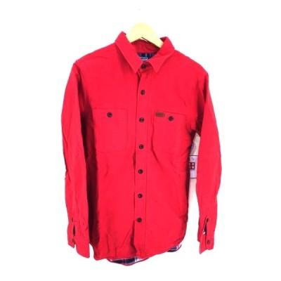 ポロバイラルフローレン Polo by RALPH LAUREN 裏地チェック ワークシャツ メンズ M 中古 210319