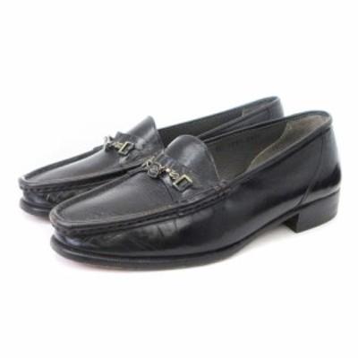 【中古】モレスキー MORESCHI ローファー パンプス レザー 黒 ブラック 24.5E シューズ 靴 ■SM レディース
