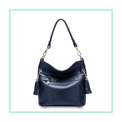 DHL Delivery Fashion Tassels Women's Zipper Cowhide Genuine Leather Handbag Shoulder Bag Purse Satchel Navy並行輸入品