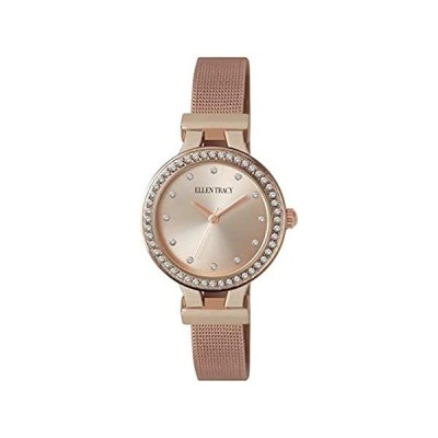 Ellen Tracy Womens Rose Gold Tone Mesh Band Watch One Size Rose Gold Tone好評販売中