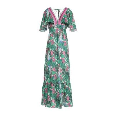 4GIVENESS ロングワンピース&ドレス グリーン L ポリエステル 100% ロングワンピース&ドレス