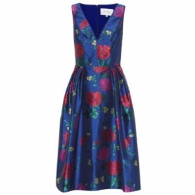 キャロリーナ ヘレラ Carolina Herrera レディース ワンピース ワンピース・ドレス Floral jacquard dress Blue Mulitcolor