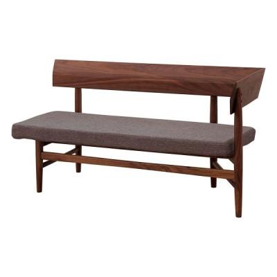 北欧・モダン ナーブル アームベンチ (L) ブラウンフレーム ブラウンカバー カフェ NARBRE ARM BENCH (L) frame:brown / cover:brown / おしゃれ