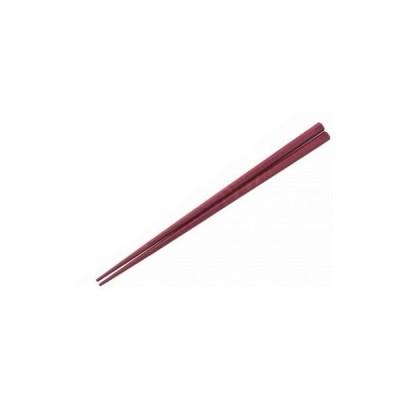 1010-04 抗菌 六角 すべり止め箸 21cm あずき 7006760