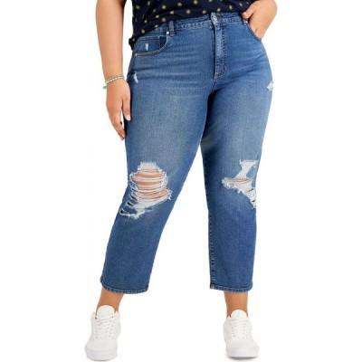スタイル&コー Style & Co レディース ジーンズ・デニム 大きいサイズ ボトムス・パンツ Plus Size Distressed Mom Jeans Heartstring