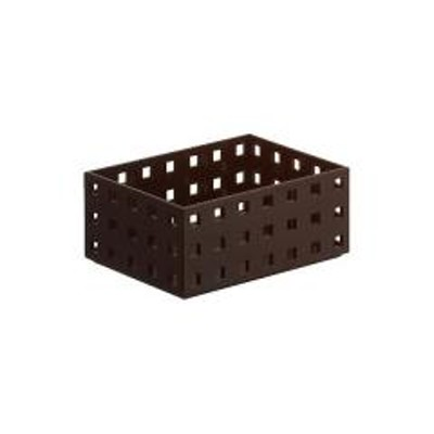 小物収納 収納ケース ブリックス BRICKS 140スリムM 9001 ブラウン( 小物入れ 小物ケース 収納ボックス 収納バスケット フリーケース キッチン収納 整理ボックス プラスチック )