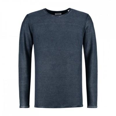 DSTREZZED (ディストレス) ロングスリーブTシャツ ニットTee クルーネックニット Crew Acid stripe